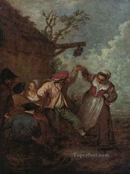 Peasant Dance Jean Antoine Watteau Oil Paintings